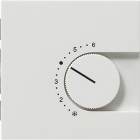 Reg. temp. 24 V przełączalny Gira F100 biały 0397112