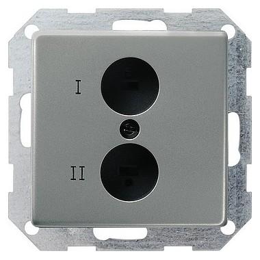 Gn. głośn. stereo Gniazdo wtyczkowe Gira E22 naturalny stalowy 040220