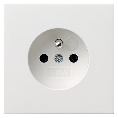 Gniazdo z bolcem z ochr.dz. Gira F100 biały 0485112
