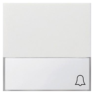 Klawisz opis duży symbol dzwonka Gira F100 biały 0679112