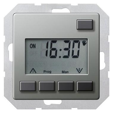 Zegar sterowniczy easy Gira E22 naturalny stalowy 117520
