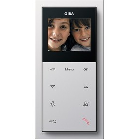 Unifon wideo AP Plus Gira F100 biały 1239112