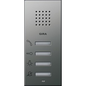 Unifon AP Gira E22 naturalny stalowy 125020
