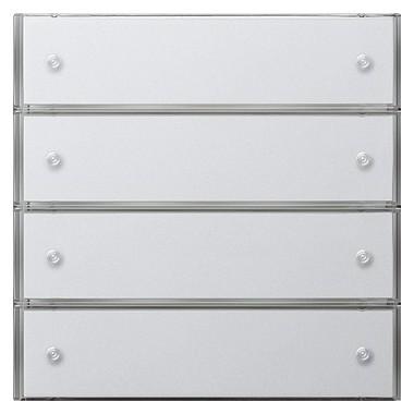 KNX Czuj przycisk 3 Komfort poczwórny Gira F100 biały 2034112