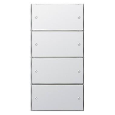 KNX Czuj przycisk 3 Komfort poczw.(2+2) Gira F100 biały 2035112