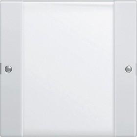 Zestaw przełączn. pojedyncza opis System 55 przezroczysty biały 213103