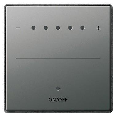 Klawisz System 2000 ściemniacz dotyk. Gira E22 kolor nat. stalowy 226020