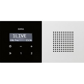 Radio pt. RDS Gira F100 biały 2280112