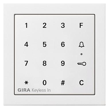 Gira Keyless In klaw.kod. Gira F100 biały 2605112
