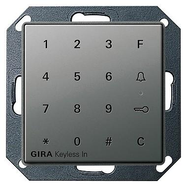 Gira Keyless In klaw.kod. Gira E22 kolor nat. stalowy 260520