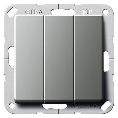 Łącznik kołyskowy Wł./wył. potrójny Gira E22 naturalny stalowy 283020