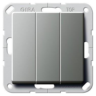 Łącznik kołyskowy Przełącznik potr. Gira E22 naturalny stalowy 283220