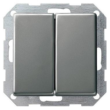 Łącznik przyciskowy Wył. świecznikowy Gira E22 naturalny stalowy 286020