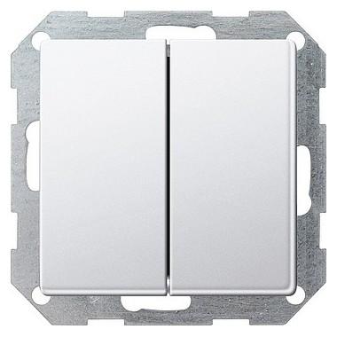 Łącznik przyciskowy przeł./przeł. Gira E22 biały 2861201