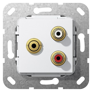 Cinch audio, bag mini Sprzęg Urządzenie podtynk. biały 563403