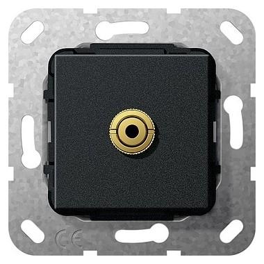 Bagnet mini 3,5 mm Rozgałęźnik kabl. Urządzenie podtynk. czarny matowy 564910