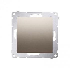 Łącznik jednobiegunowy (moduł) 10AX, 250V~, szybkozłącza, złoty mat DW1.01/44