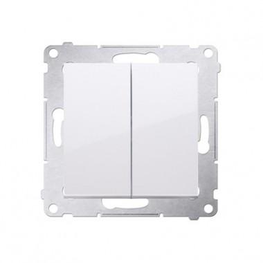 Wyłącznik podwójny świecznikowy SIMON 54 biały DW5.01/11