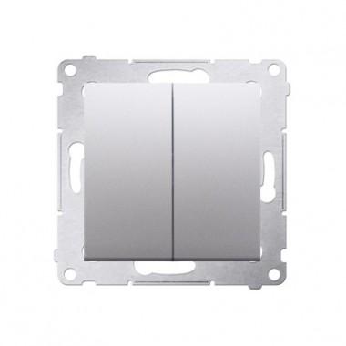 Wyłącznik podwójny SIMON 54 - srebrny mat DW5.01/43