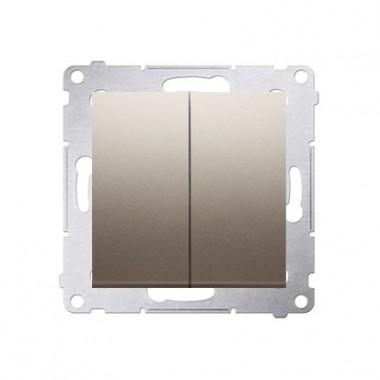 Wyłącznik podwójny SIMON 54 - złoty mat DW5.01/44