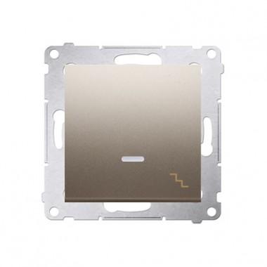 Wyłącznik schodowy podśw. 10A SIMON 54 - złoty mat DW6L.01/44