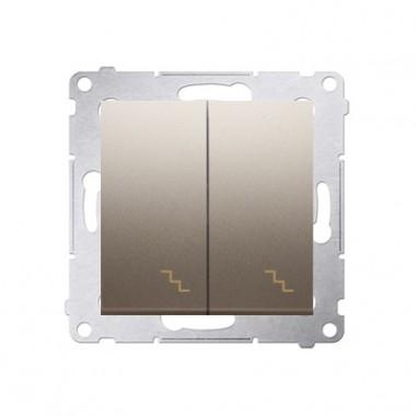 Łącznik schodowy podwójny (moduł) 10AX, 250V~,  złoty mat DW6/2.01/44