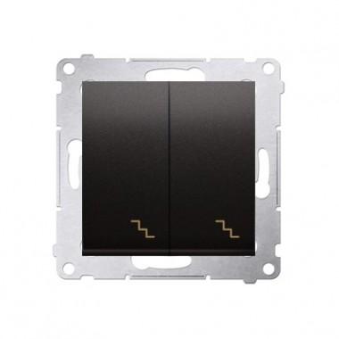 Łącznik schodowy podwójny (moduł) 10AX, 250V~,  antracyt DW6/2.01/48