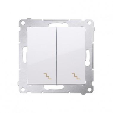 Wyłącznik schodowy podwójny z podświetleniem SIMON 54 biały DW6/2L.01/11