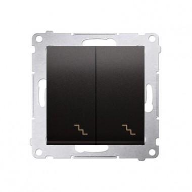 Łącznik schodowy podwójny z podświetleniem (moduł) 10AX, 250V~,  antracyt DW6/2L.01/48