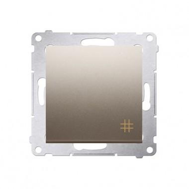Wyłącznik krzyżowy 10A SIMON 54 - złoty mat DW7.01/44