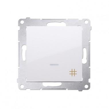 Wyłącznik krzyżowy z podświetleniem SIMON 54 biały DW7L.01/11