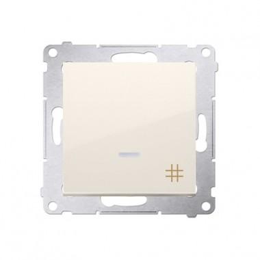 Wyłącznik krzyżowy podświetlany SIMON 54 biały DW7L.01/41