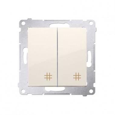 Wyłącznik krzyżowy podwójny SIMON 54 - kremowy DW7/2.01/41