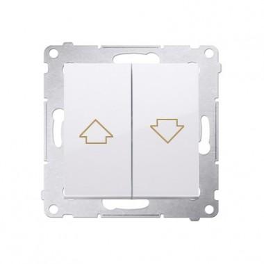 Przycisk żaluzjowy SIMON 54 biały DZP1.01/11