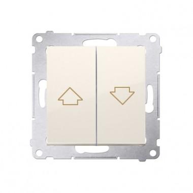 Przycisk żaluzjowy SIMON 54 10A kremowy DZP1.01/41