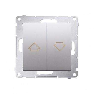 Przycisk żaluzjowy SIMON 54 10A srebrny mat DZP1.01/43