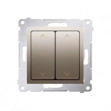 Wyłącznik żaluzjowy podwójny SIMON 54 złoty mat DZW2.01/44