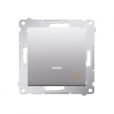 Przycisk Dzwonek podświetlany LED SIMON 54 - srebrny mat DD1L.01/43