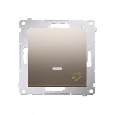 Przycisk Dzwonek podświetlany LED SIMON 54 - złoty mat, metalizowany DD1L.01/44