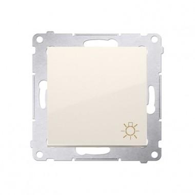 """Przycisk """"światło"""" (moduł) 10AX, 250V~, szybkozłącza, krem DS1.01/41"""