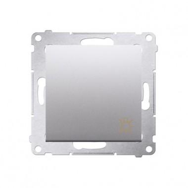 Przycisk Światło 10A SIMON 54 - srebrny mat DS1.01/43