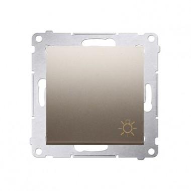 Przycisk Światło 10A SIMON 54 - złoty mat DS1.01/44