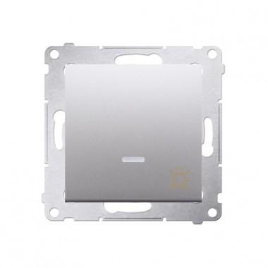 Przycisk Światło z podśw. 10A SIMON 54 - srebrny mat, metalizowany DS1L.01/43