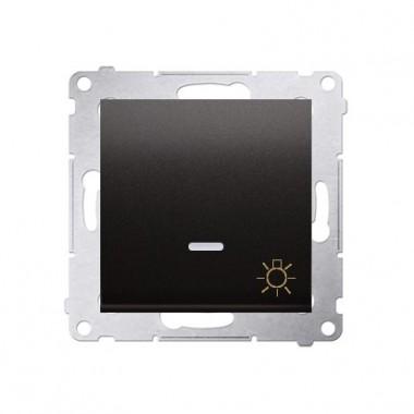 Przycisk Światło z podśw. 10A SIMON 54 - antracyt, metalizowany DS1L.01/48