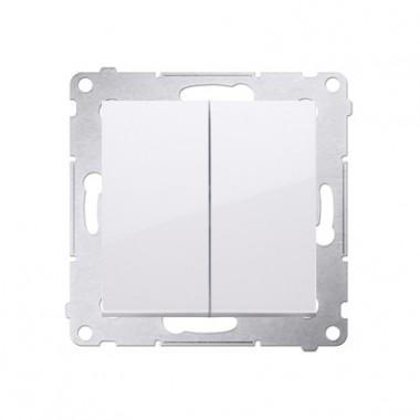 Przycisk podwójny zwierny bez piktogramu SIMON 54 biały DP2.01/11