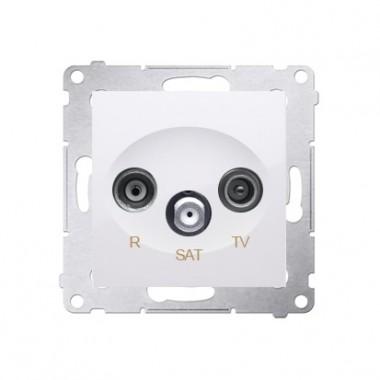 Gniazdo antenowe R-TV-SAT końcowe SIMON 54, biały DASK.01/11