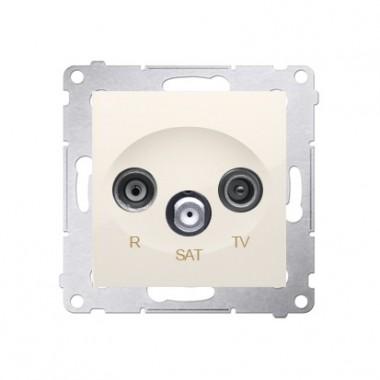 Gniazdo końcowe R-TV-SAT SIMON 54 kremowy DASK.01/41