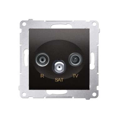 Gniazdo antenowe przelotowe R-TV-SAT SIMON 54 antracyt DASP.01/48
