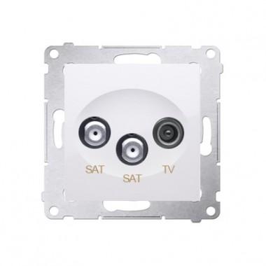 Gniazdo satelitarne podwójne SAT-SAT-RTV SIMON 54 biały DASK2.01/11