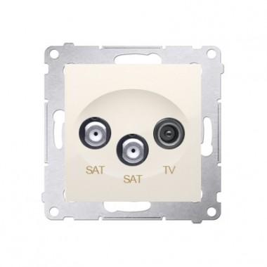 Gniazdo antenowe RTV-SAT-SAT SIMON 54 kremowy DASK2.01/41
